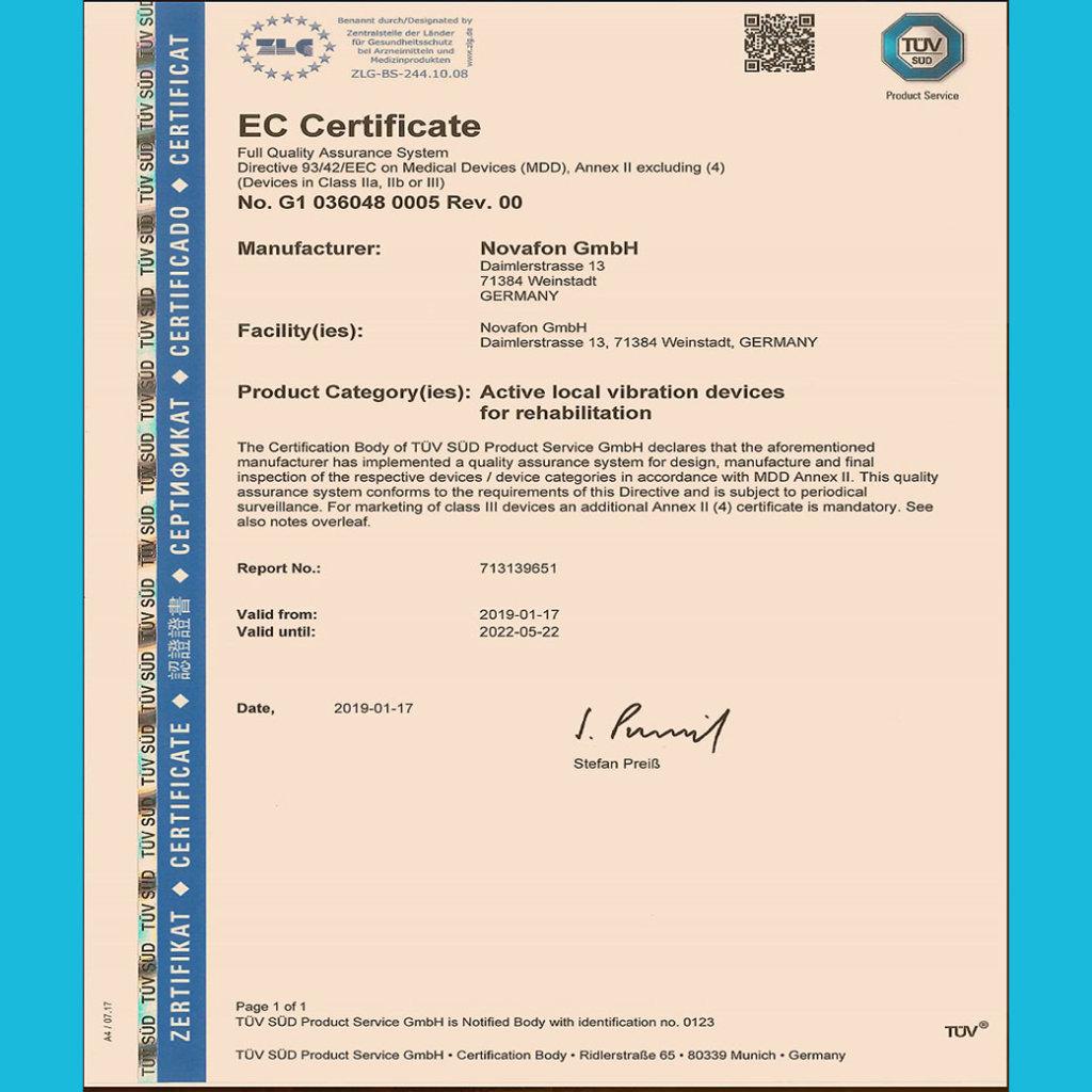德國復健器材證照