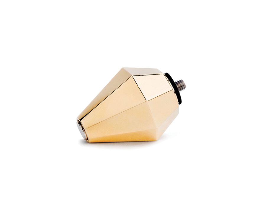 磁石角錐傳導頭 (金鑽) Gold head