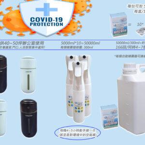 病毒抑制効果99.9%日本製防疫Covid19爆量KYOSEI-JIA微酸性次氯酸水生成劑壹盒+4自動噴霧器+3手動噴霧瓶 (附5000ml泡製容器)