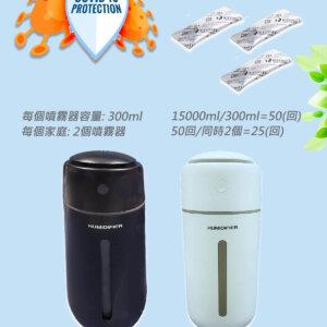 日本製KYOSEI-JIA微酸性次氯酸水3小包+2自動噴霧器動噴霧器 白